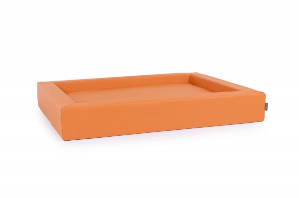 Kunstleder Hundebett Harko orange